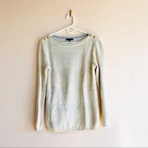 Tommy Hilfiger Boatneck Knit Sweater in Oatmeal